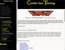Tablet Preview of cambrian-timing.co.uk